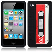 Apple iPod Touch 4Th Gen Cassette Tape Silicone Skin Case