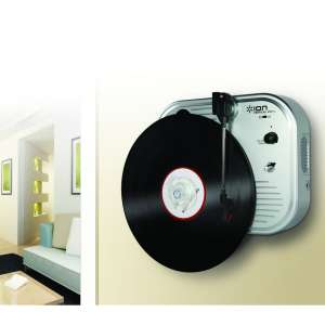 ION Vertical Vinyl Wall Mounted Retro Turntable