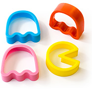 Pac Man Cookie Cutters - Pac Man, Inky Pinky and Blinky (but not Clyde!)